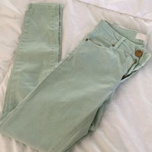 Zara Mint Green Skinny Pants